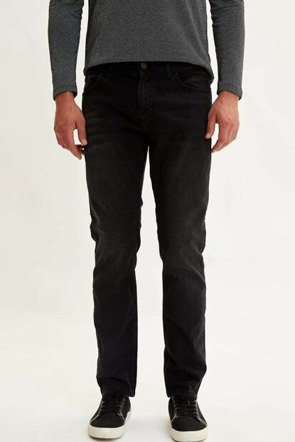 Men's Black Sergio Regular Fit Jean Trousers L6705AZ.19AU.NM40