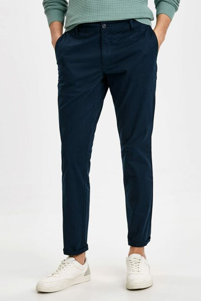 Men's Dark Navy Blue Trousers 9S1106Z8