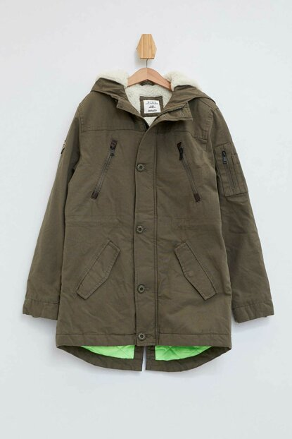 Hooded Canvas Parka L1029A6.19AU.KH267