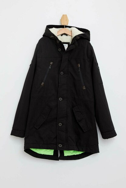 Hooded Canvas Parka L1029A6.19AU.BK27