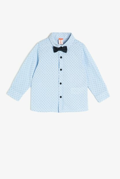 Blue Bow Tie Detailed Shirt 0YMB66135TW