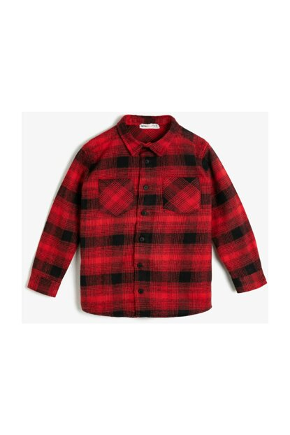 Red Kid Classic Collar Shirt 0KKB66173OW