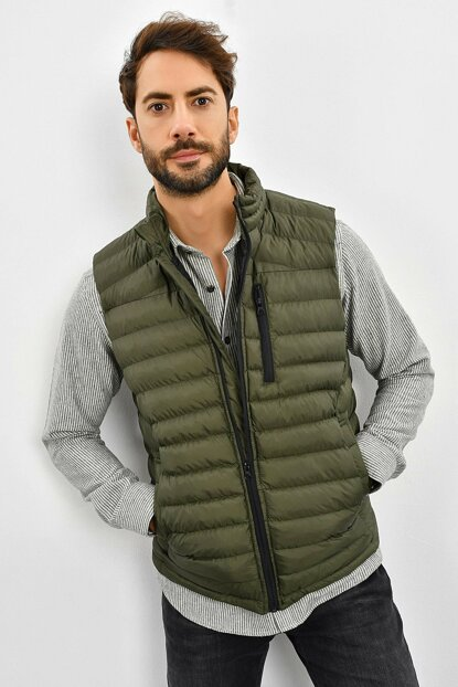 Men's Khaki Inflatable Vest 9KEYLTEN001