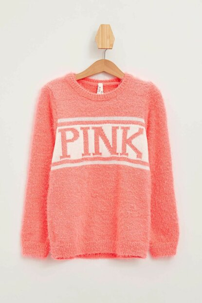 Pink Girl Children Printed Sweater Pullover L0887A6.19WN.PN485