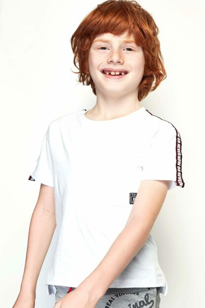 Boys White T-Shirt 19SS0NB3513
