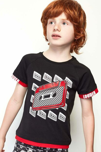 Boys Black T-Shirt 19SS0NB3510