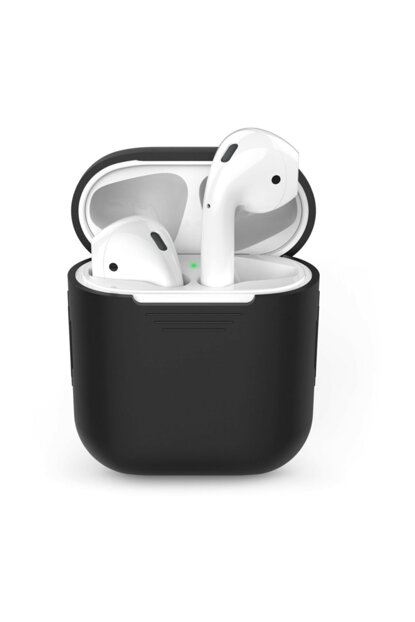 Airpods Bluetooth Headset Silicone Case, For Microsonic Black MSKLF00038