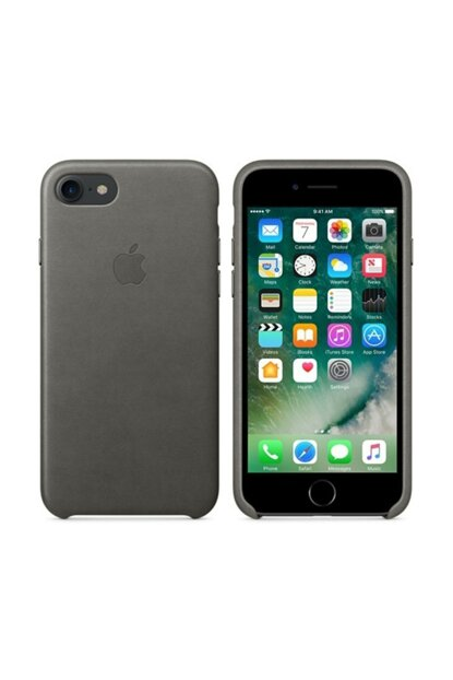 Iphone 7/8 Gray Leather Case MMY12ZM / A-1