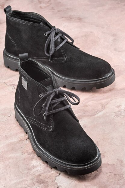 JJOE Genuine Leather Black Men Boots 19KSA8800
