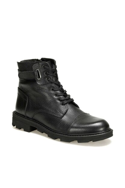 Genuine Leather Black Men Boots 4129