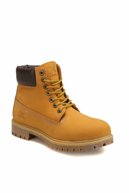 Genuine Leather Yellow Men Boots A1305005