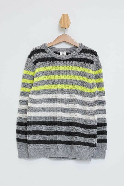 Crew Neck Stripe Sweater L0504A6.19AU.BG191