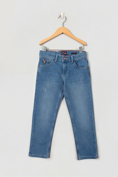 Blue Denim Trousers for Boys G083SZ080.000.853696