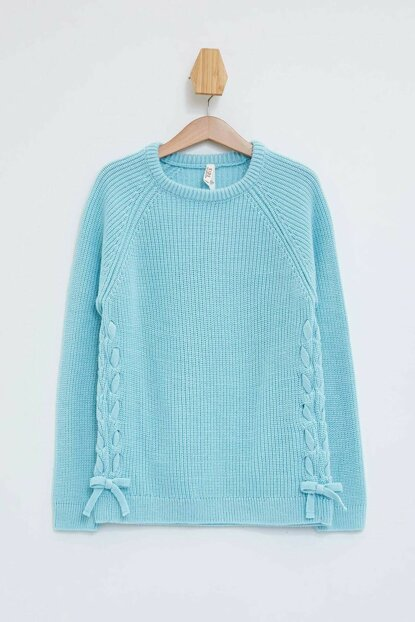 Knitted Sweater with Lace-up K9523A6.19AU.BE440