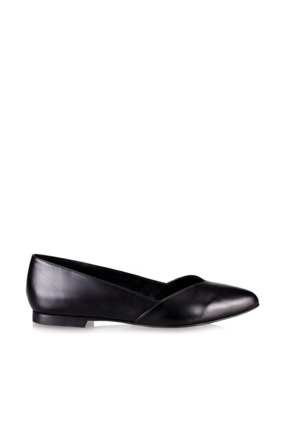Genuine Leather Black Women Shoes 01AYH130220A100
