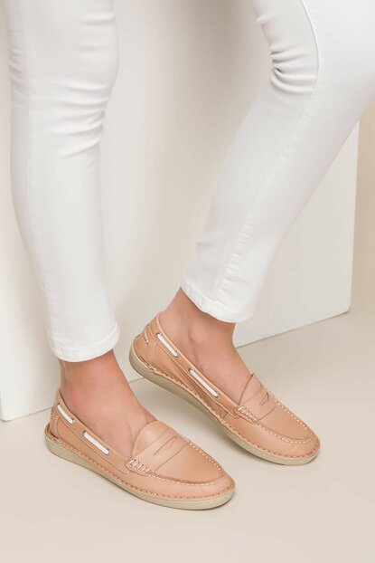 Genuine Leather Light Pink Women's Shoes 120130002072