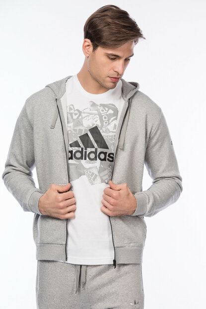 Men's Sweatshirt - Ess Base Fz Slb - BK3716