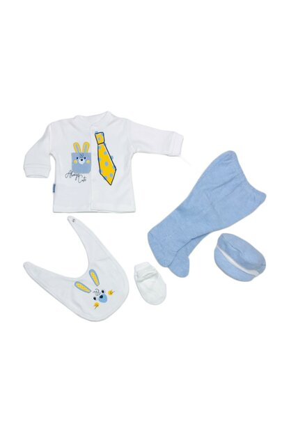blue baby boy tie rabbit 5 li out of hospital 14816