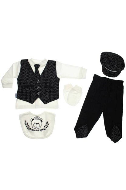 Black Modakids Baby Boy 5 Ties Hospital Outlet 035-249488-038