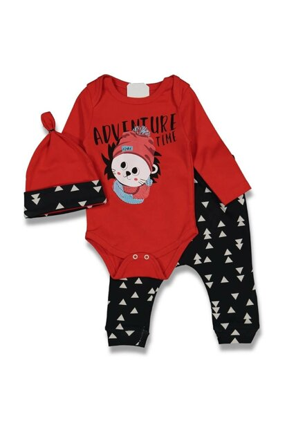 Red Lion Patterned Baby Boy Set of 3 AF90293