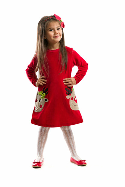 Christmas Twin Deer Dress CFF-18K1-109