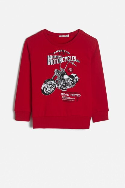 Red Boy Kid Printed Printed T-Shirt 0KKB16419OK