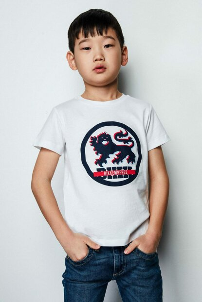 Boys' White T-Shirt 19SSDJMTE72