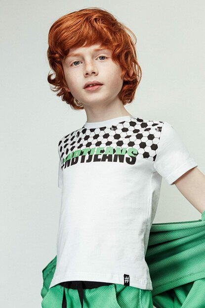 Boys' White T-Shirt 19SS2NB3571