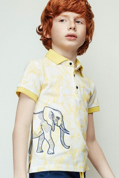 Boy Patterned T-Shirt 19SS1NB3546