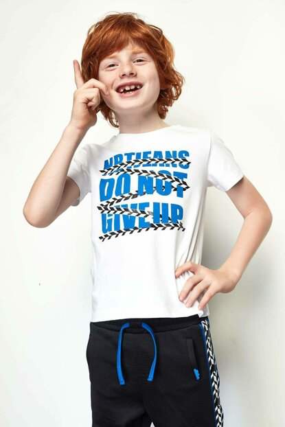 Boys' White T-Shirt 19SS0NB3528