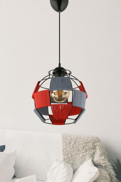 New Monde Red Gray Pendant Lamp ASY082
