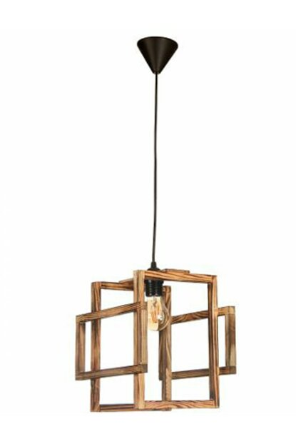 Ora Decor Natural Wooden Mio Single Wooden Pendant Lamp Chandelier Natural O-1002050017