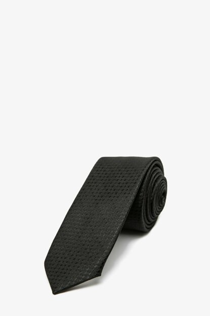 Men's Black Patterned Tie 0KAM89006VA