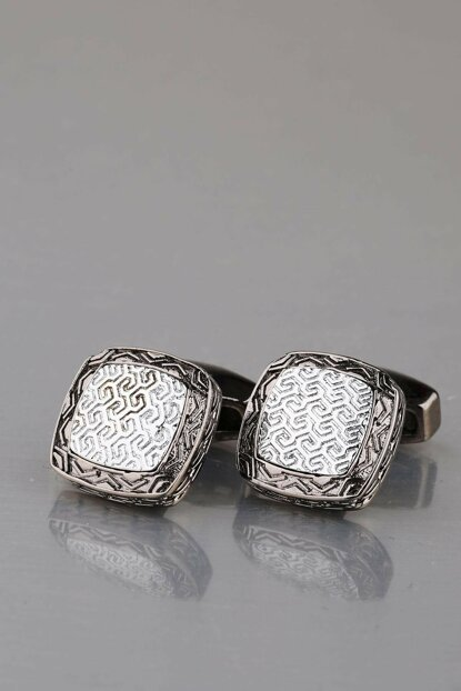 Men's Smoked Color Square Cufflink KD921 KRVT8690002223202