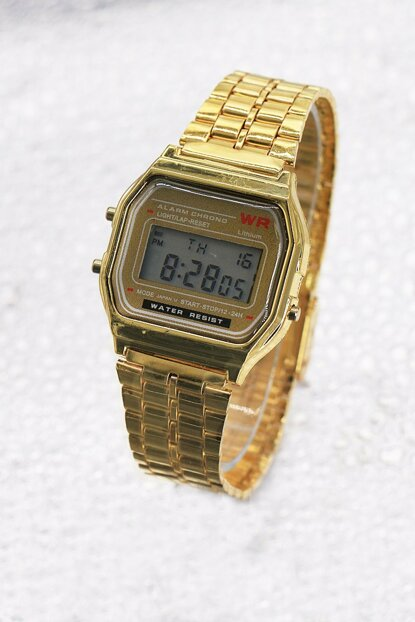 Gold Color Digital Watch with Metal Watch 8699000097275