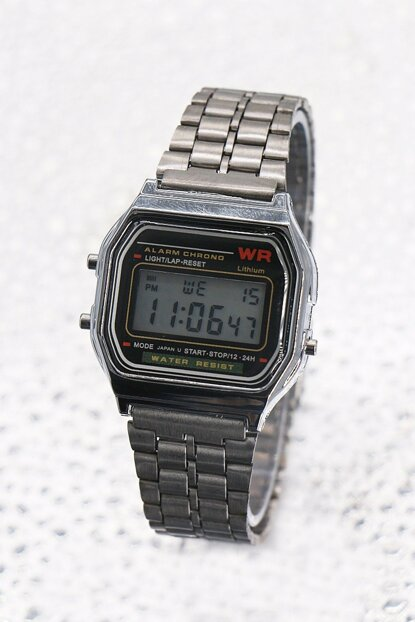 Silver Color Digital Watch with Metal Watch 8699000097305