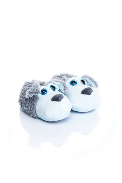 Gray Unisex Children Animal Slipper NN0544