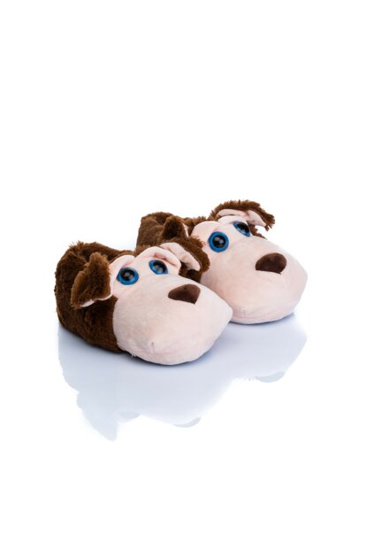 Brown Unisex Children Animal Slipper NN0545