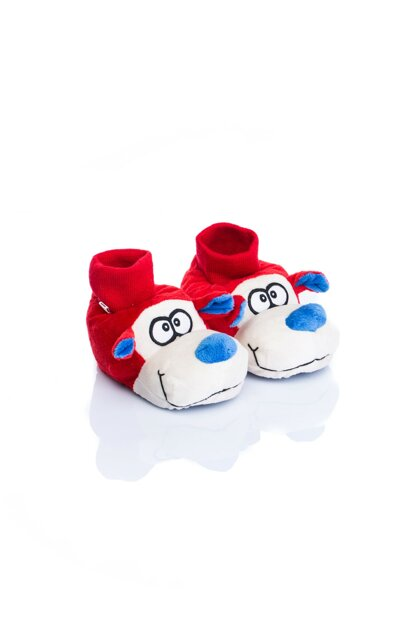 Red Unisex Children Animal Slippers NN0558