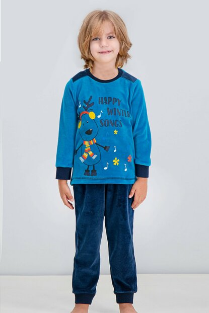 Oil Boys' Velvet Pajamas Set for Children RP1622-C-V1