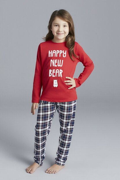 Unisex Children Multicolor Bear Pajamas Set 2 Pcs PNSTUKJG19SK-MIX