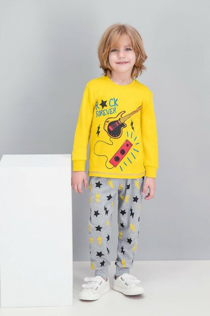 Rock Forever Yellow Boy Pajamas Set RP1510-C-V1