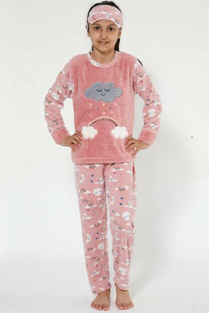Girl's Salmon Well Soft Pajama Set 4525