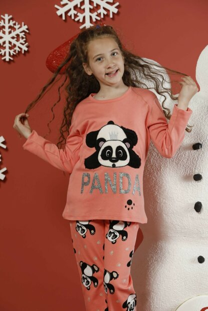 Girls Patterned Embroidery Interlock Pajama Set 19255072