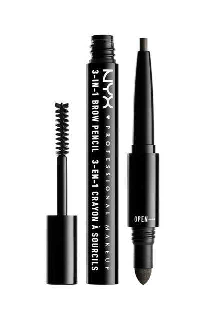 3-in-1 Brow Pencil with 3 in 1 Brow Black 800897078935 NYXPMU31B