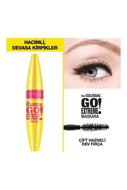 Volumizing Black Mascara - Volum Colossal Go Extreme Mascara Black 3600530982134
