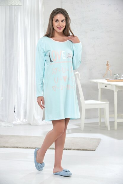 Women's Outdoor Turquoise Nightgown 10107