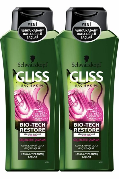 Bio-Tech Strengthening Shampoo 360 ml x 2 Pcs SET.HNKL.661