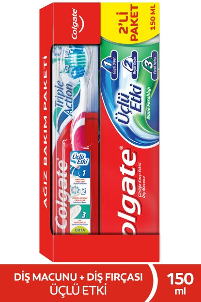 Triple Effect Toothpaste 150ml + Toothbrush Medium 8718951269422