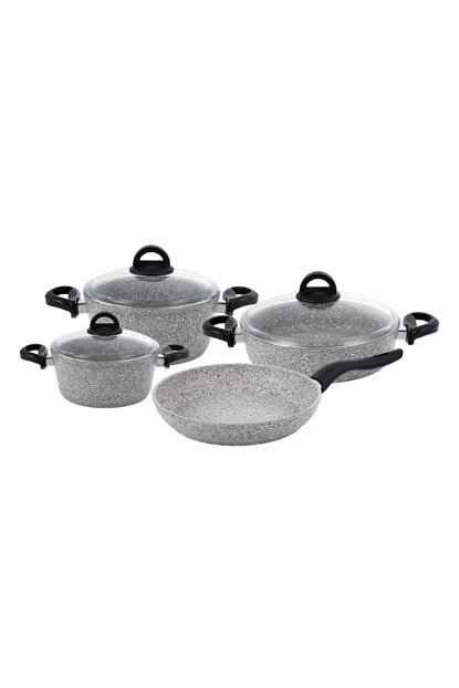 Premium Granite 7 Pieces Cookware Set Gray 600.15.01.0862
